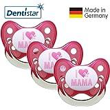 Dentistar® Silikon Schnuller 3er Set - Beruhigungssauger, Nuckel Größe 1 von Geburt an, 0-6 Monate - zahnfreundlich & kiefergerecht   Edition 10