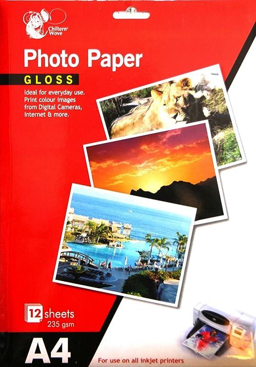 Papel Fotográfico A4 Brillante de 235 g/m para Impresora de Chorro ...