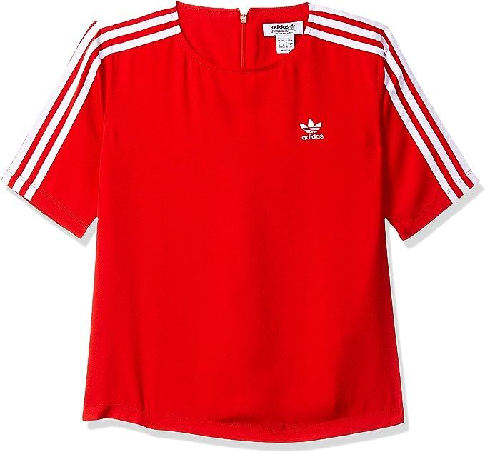 tee shirt adidas rouge femme