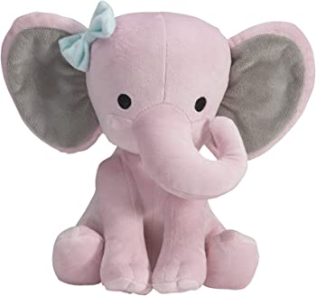Bedtime Originals Twinkle Toes Pink Elephant Plush