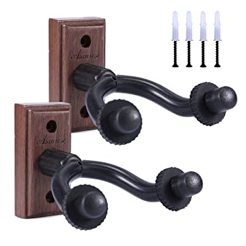 Asmuse™ Colgador de Pared para Guitarra y Soporte Accesorios Guitar Hanger Wall Mount Hook Natural