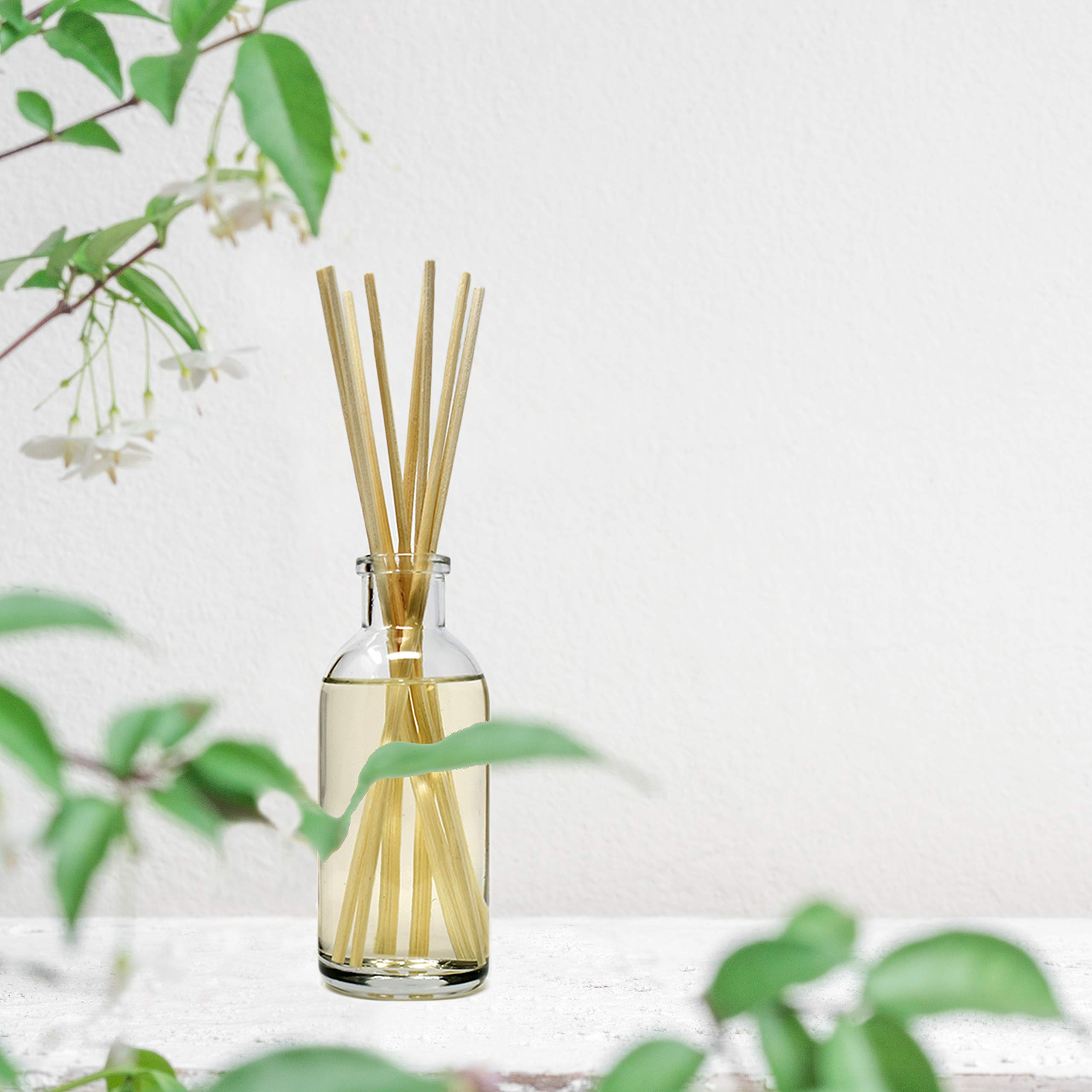 Urban Naturals Lavender Sandalwood Essential Oil Reed Diffuser Set with Natural Bamboo Reeds Sticks | Aromatic Lavender, Golden Amber & Woods | Vegan. Made in The USA by Urban Naturals