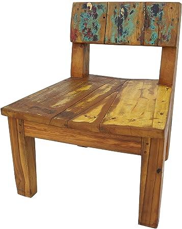 Amazonde Guru Shop Stuhl Aus Recyceltem Teakholz Teakholzrecycelt