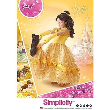 Simplicity Schnittmuster 8407 Disney Schönheit und das Biest Kostüm ...