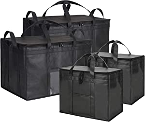 NZ Home Ultimate Food Delivery Bags Bundle XL Insulated Bags 2 Pack + XXXL Insulated Bags 2 Pack