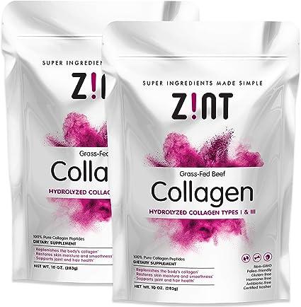 Amazon.com: Zint Collagen Peptides en polvo (paquete de 20 ...