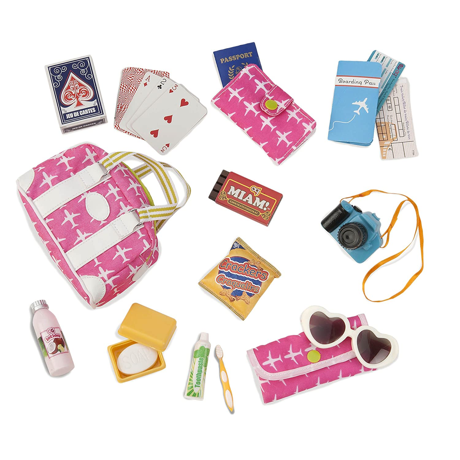 """Our Generation by Battat- Vacation Travel Bag with Accessories for 18"""" Dolls - Bon Voyage by Age 3 Years & Up"""
