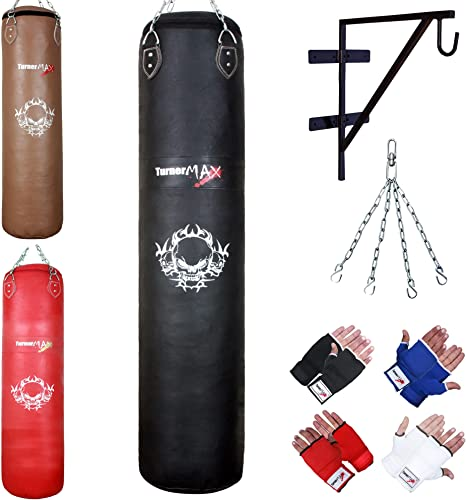 8 Pcs Set Yellow /& Black 4ft,5ft,6ft Boxing Punch Bag//MMA//kick//Heavy Filled Punch bag