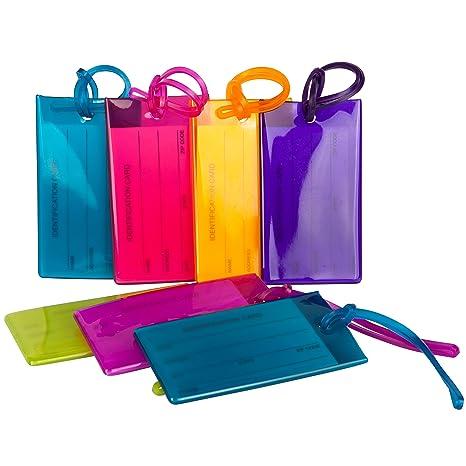 Amazon.com: Paquete de 7 etiquetas para equipaje TravelMore ...