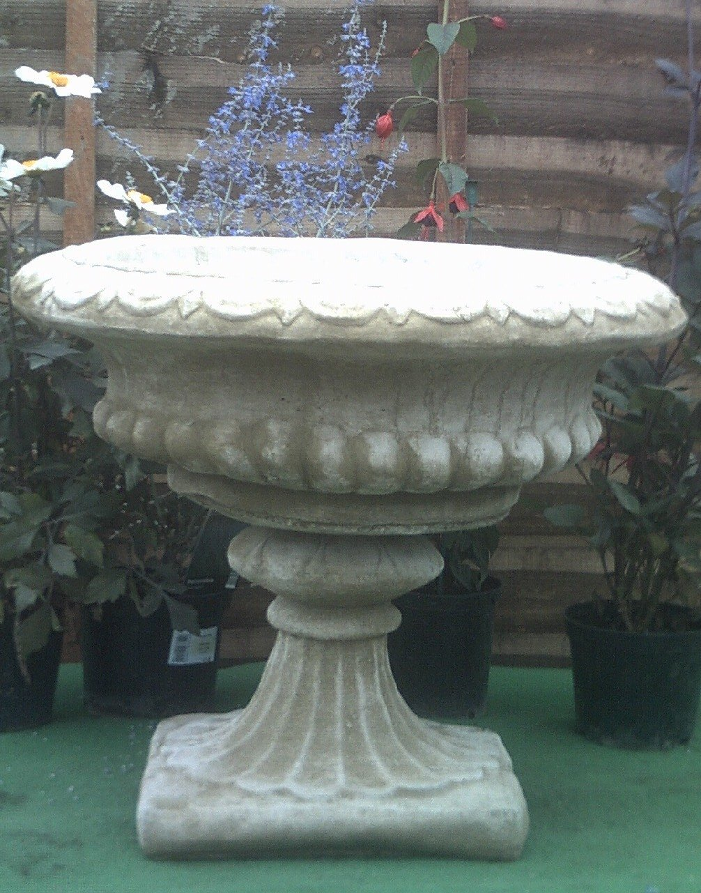 Stone Concrete Victorian Vase Planter.