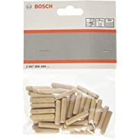 Bosch Professional geribbelde houten pluggen (50 stuks, Ø 6 mm), standaard