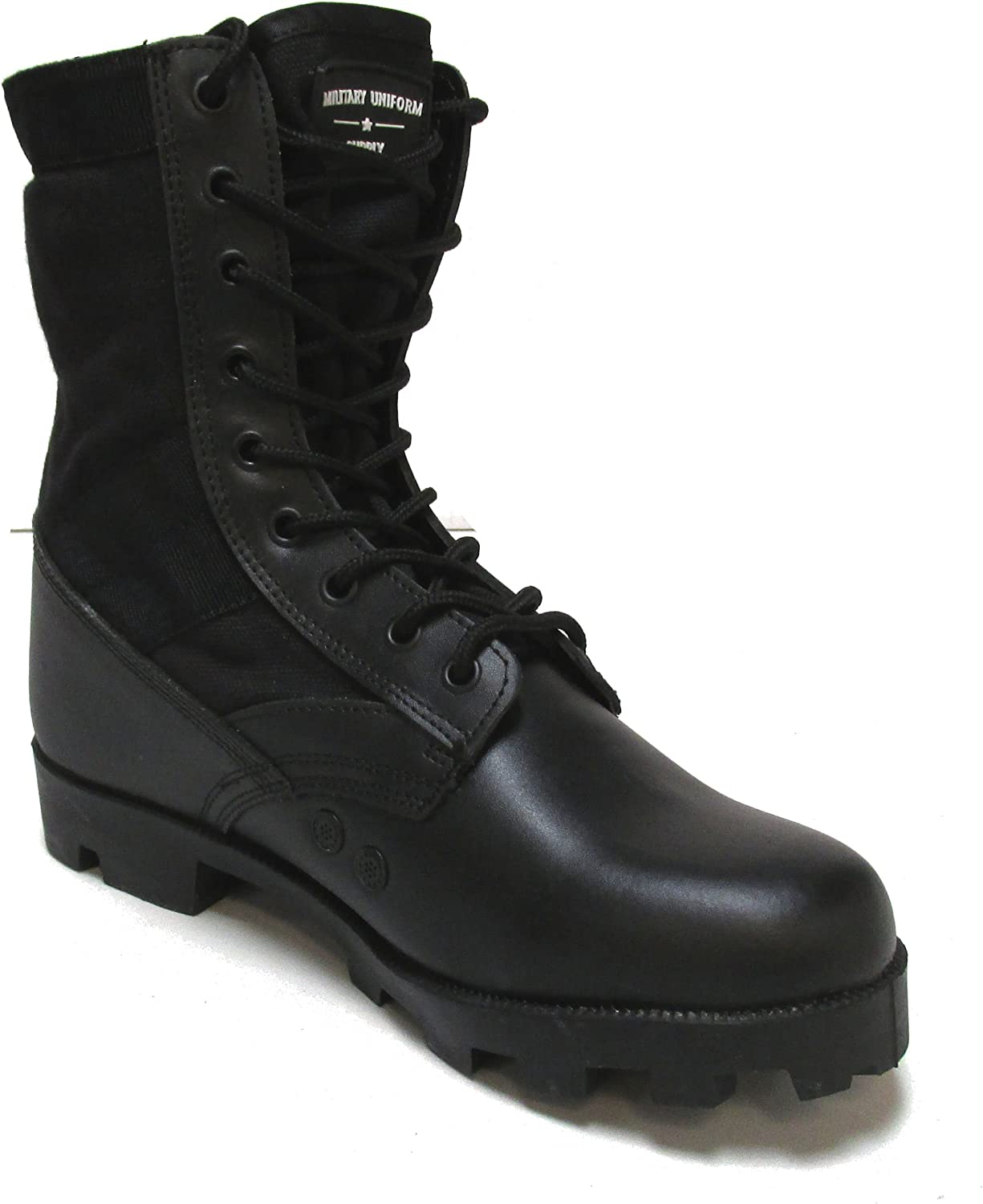 Amazon.com: Botas de jungla de uniforme militar, color negro ...