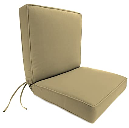 Jordan Manufacturing Dinning Boxed Chair Cushion In Acrylic Heather Beige