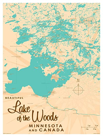 picture about Printable Maps of Minnesota referred to as : Lake of The Woods Minnesota Map Classic-Layout