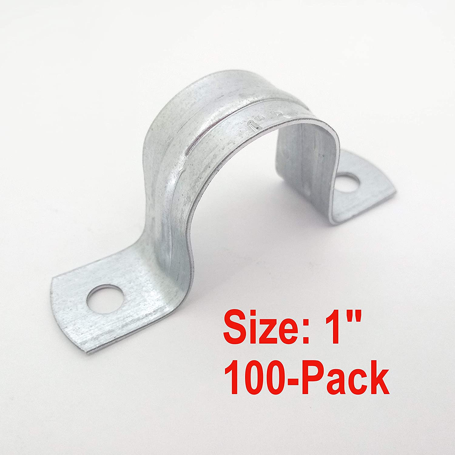 IMC Conduit Heavy Duty Rigid Pipe Strap Clamp Hanger 2 Holes Galvanized or PVC Pipes 10, 1//2 Inch
