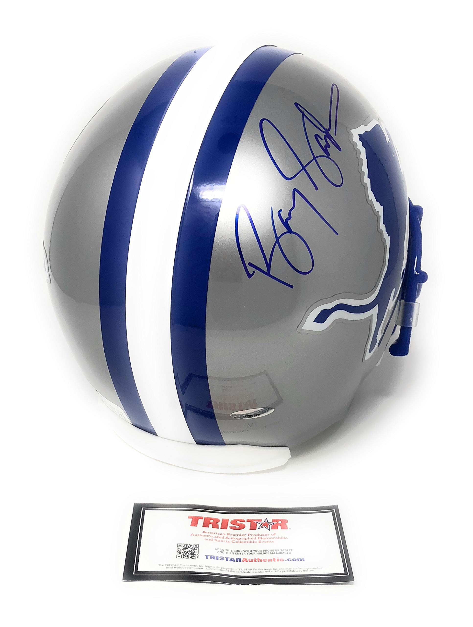 Barry Sanders Detriot Lions Signed Autograph Full Size Helmet Tristar Authentic Certified