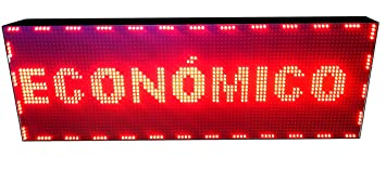 PANTALLA LED PROGRAMABLE LETRERO LED PROGRAMABLE CARTEL LED PROGRAMABLE ROTULO LED PROGRAMABLE (96 * 32 cm, ROJO) PROGRAMMABLE LED SIGN PROGRAMMABLE ...