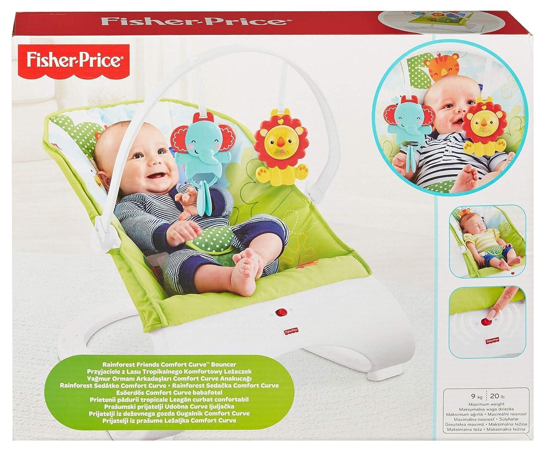 para beb/é reci/én nacido Fisher-Price Hamaca confort y diversi/ón verde Mattel CJJ79