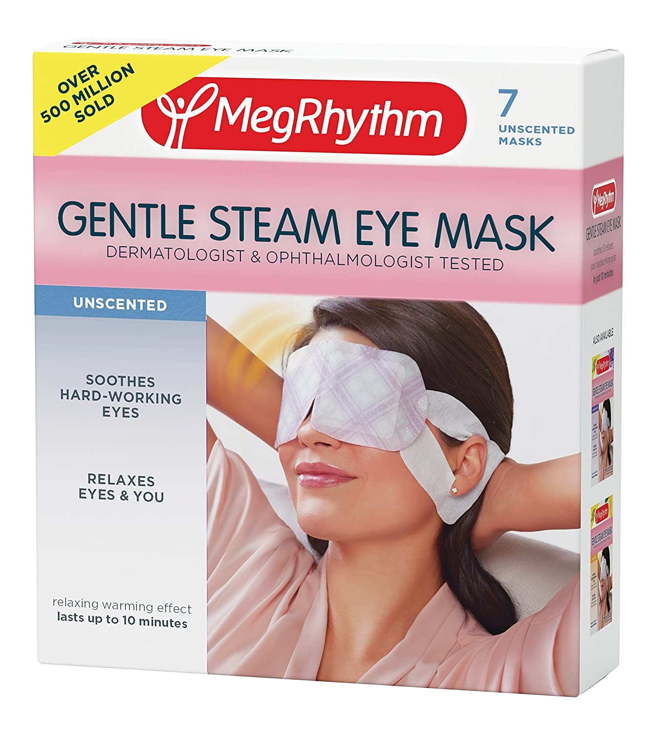 MegRhythm Gentle Steam Eye Mask, Unscented, 7 Count KAO Brands