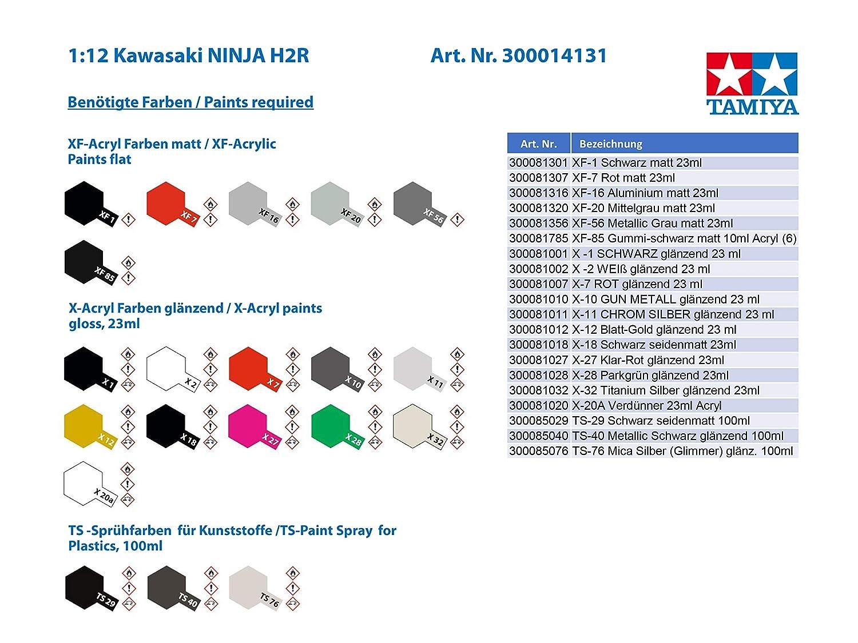 Amazon.com: Tamiya 1/12 Motocicleta Serie No.131 Kawasaki ...