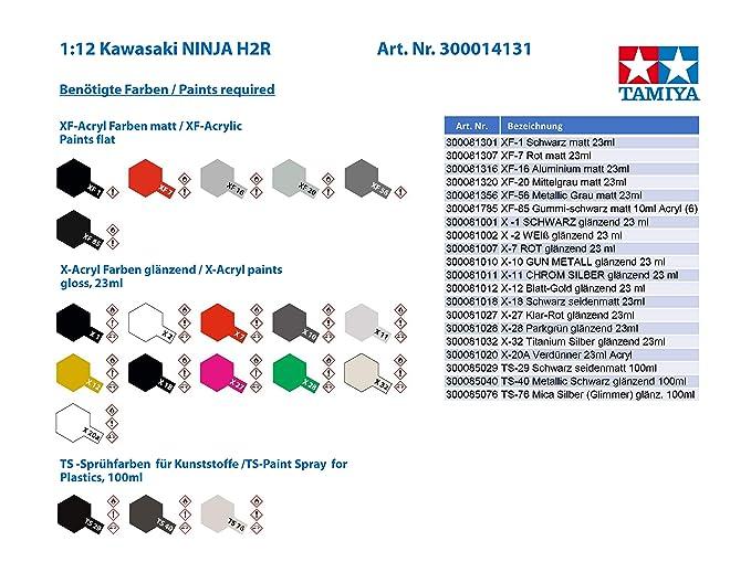 Tamiya 300014131 Vehículo de Juguete, Escala 1:12, Kawasaki ...