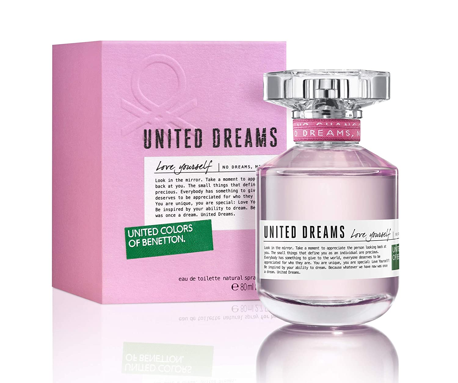 Amazon.com : Benetton United Dreams Love Yourself Eau de Toilette Spray for Women, 2.7 Ounce : Beauty