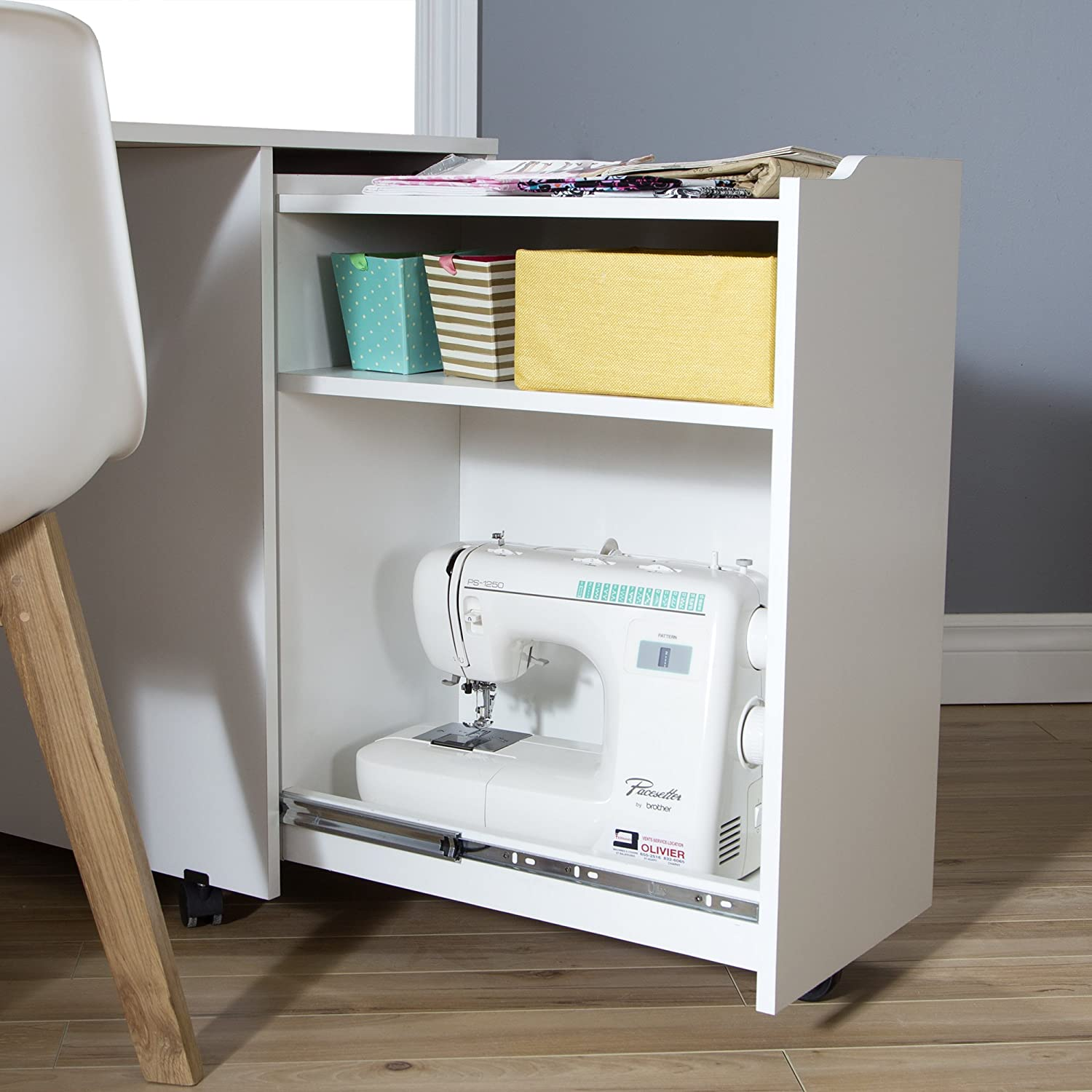 South Shore Crea Sewing Craft Table On Wheels, Pure White: Amazon.ca: Home  U0026 Kitchen