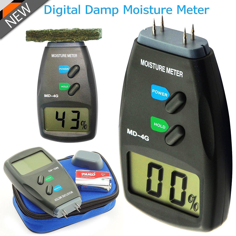h MD 4/G MD D/étecteur dhumidit/é Testeur dhumidit/é d/étecteur dhumidit/é en bois avec 4/broches sondes/ /LHumidit/é /écran LCD amovible Batterie Caravan M humide pour les murs bois