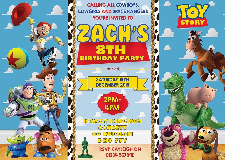 10 Invitaciones de Fiesta de cumpleaños Personalizadas de ...