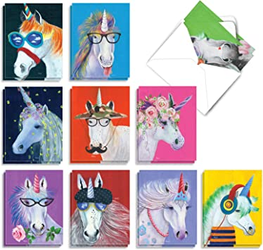 cards and envelope set cute cards fun cards unicorn set of 6 Notecards greeting cards images handmade blank cards simple stories
