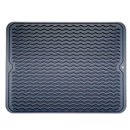 Amazon.com: Large Dish Silicone Drying Mat, Draining Mat for Kitchen ...