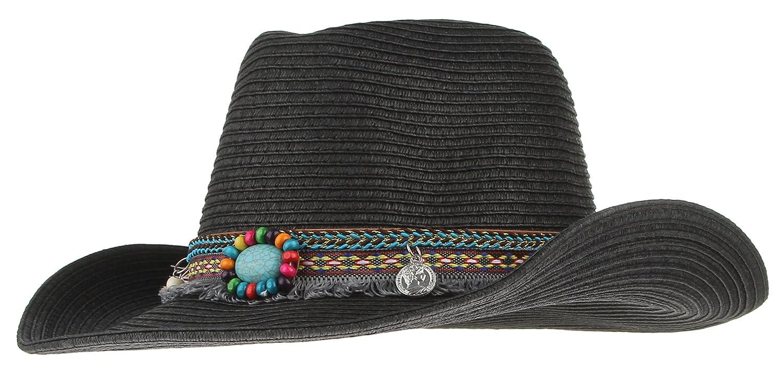 Women Men Cowboy Floppy Sun Hat Straw Summer Beach Cap Wide Brim Panama Hats
