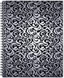 """Planner 2019 - Weekly & Monthly Planner with 12 Monthly Tabs, January 2019 - December 2019, Twin-Wire Binding, 8.5"""" x 11"""", Black Flowers, Christmas Gift"""