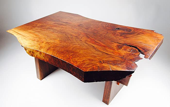 Beau Live Edge Walnut Coffee Table Inspired By George Nakashima