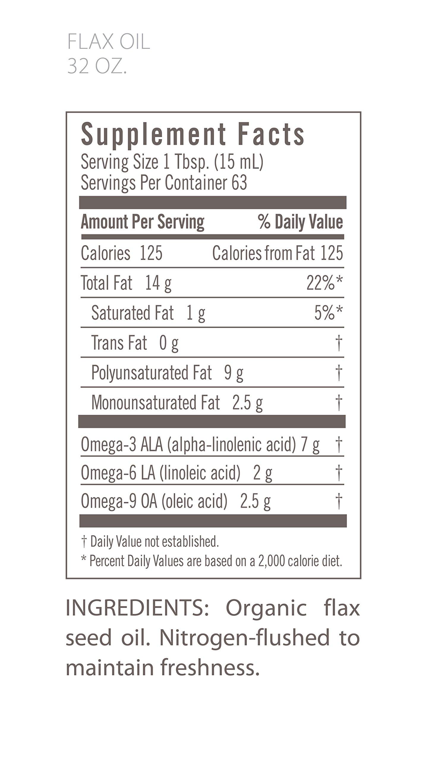 Flora Organic Flax Oil, 32 oz - Fresh Cold-Pressed & Pure - Non GMO & Gluten Free by Flora