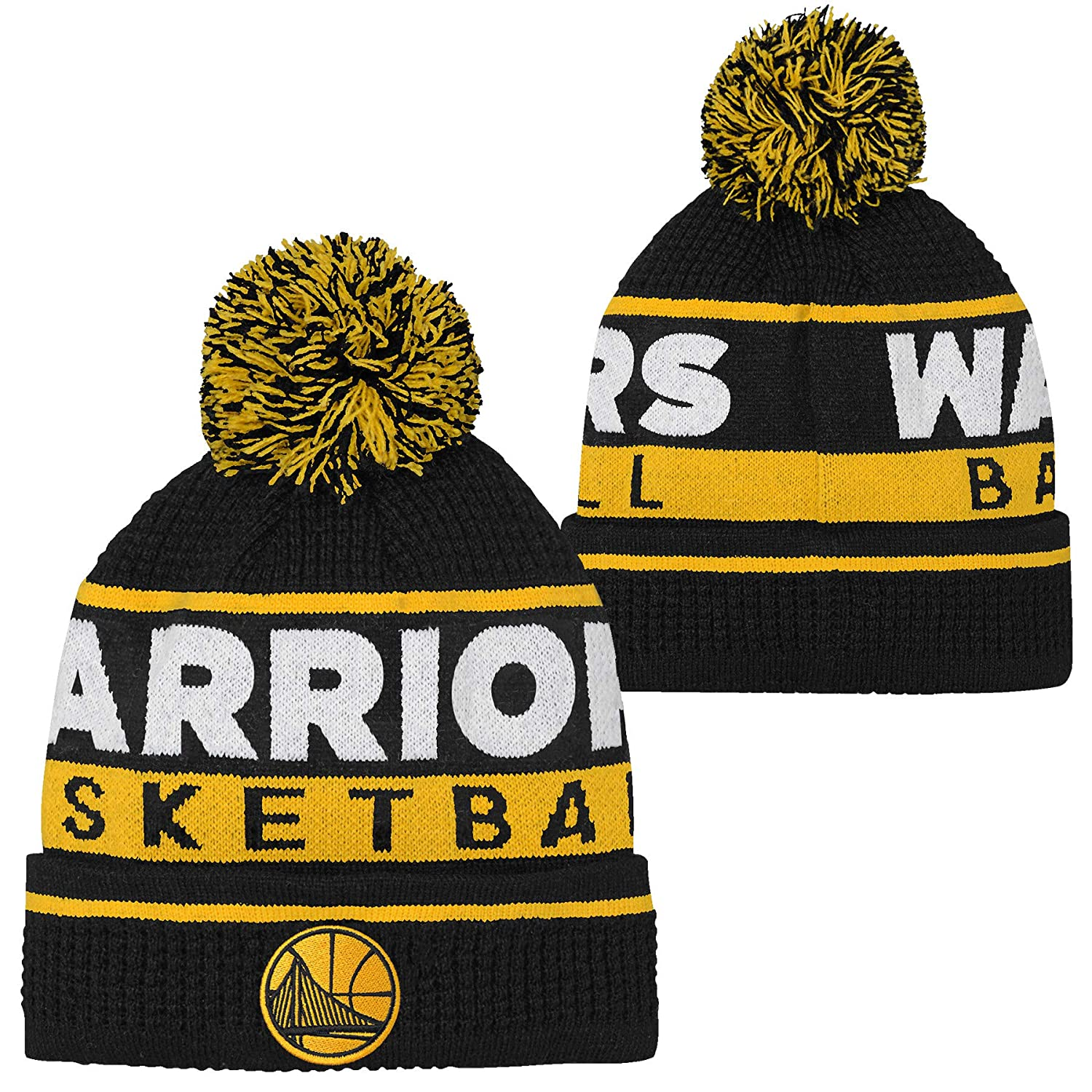 Outerstuff Golden State Warriors NBA Prime Waffle Knit Youth Winter Hat