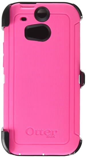 designer fashion 140ee b724b Otterbox HTC ONE M8 Defender Series Case with Holster - Retail Packaging -  Pink