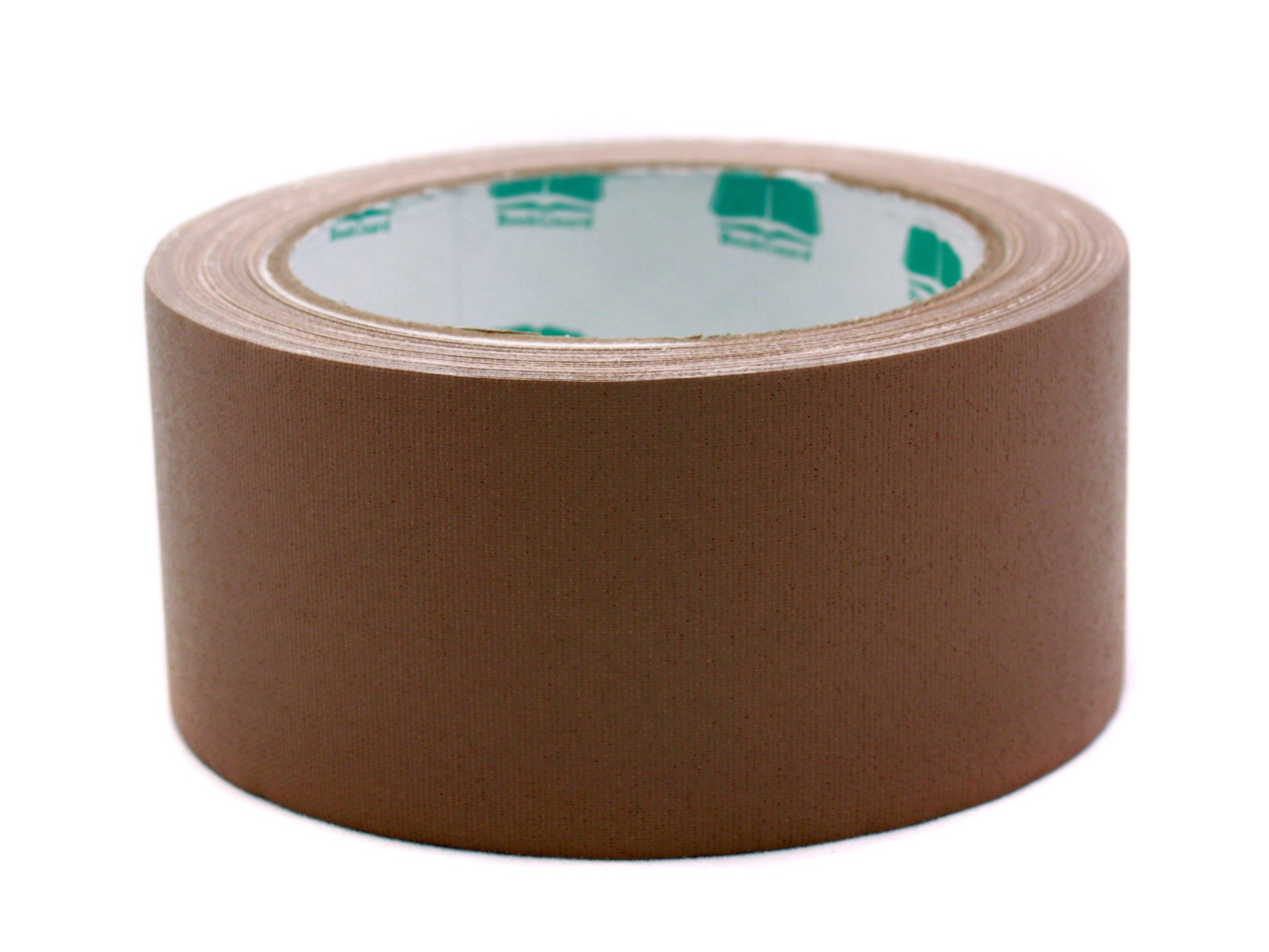 2'' Brown Colored Premium-Cloth Book Binding Repair Tape | 15 Yard Roll (BookGuard Brand) by Chromalabel.com (Image #1)