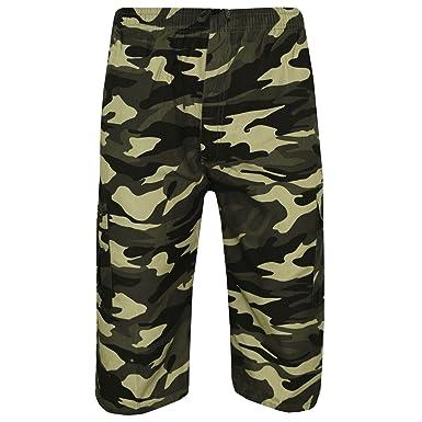 ea2d7b8452 Elegant Vaps Men's Camouflage Shorts 3/4 Length Military Trouser Cargo Work  Shorts Multi Pocket Chino Bottom Holiday Casual Shorts Plus Sizes:  Amazon.co.uk: ...