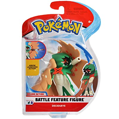 Pokemon 4.5 Inch Battle Feature Figure, Features Arrow Attack Decidueye: Toys & Games