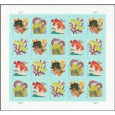 2020 Coral Reefs Postcard Rate Forever Sheet of Twenty Stamps Scott 5366: Everything Else