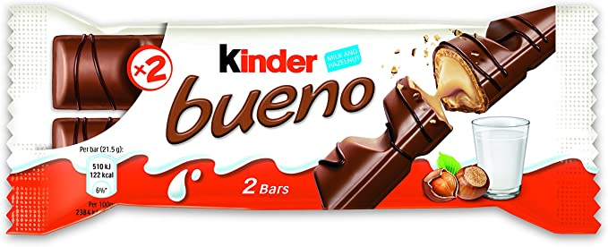 Kinder Bueno Chocolate Bars 44 g (Pack of 30): Amazon.es ...
