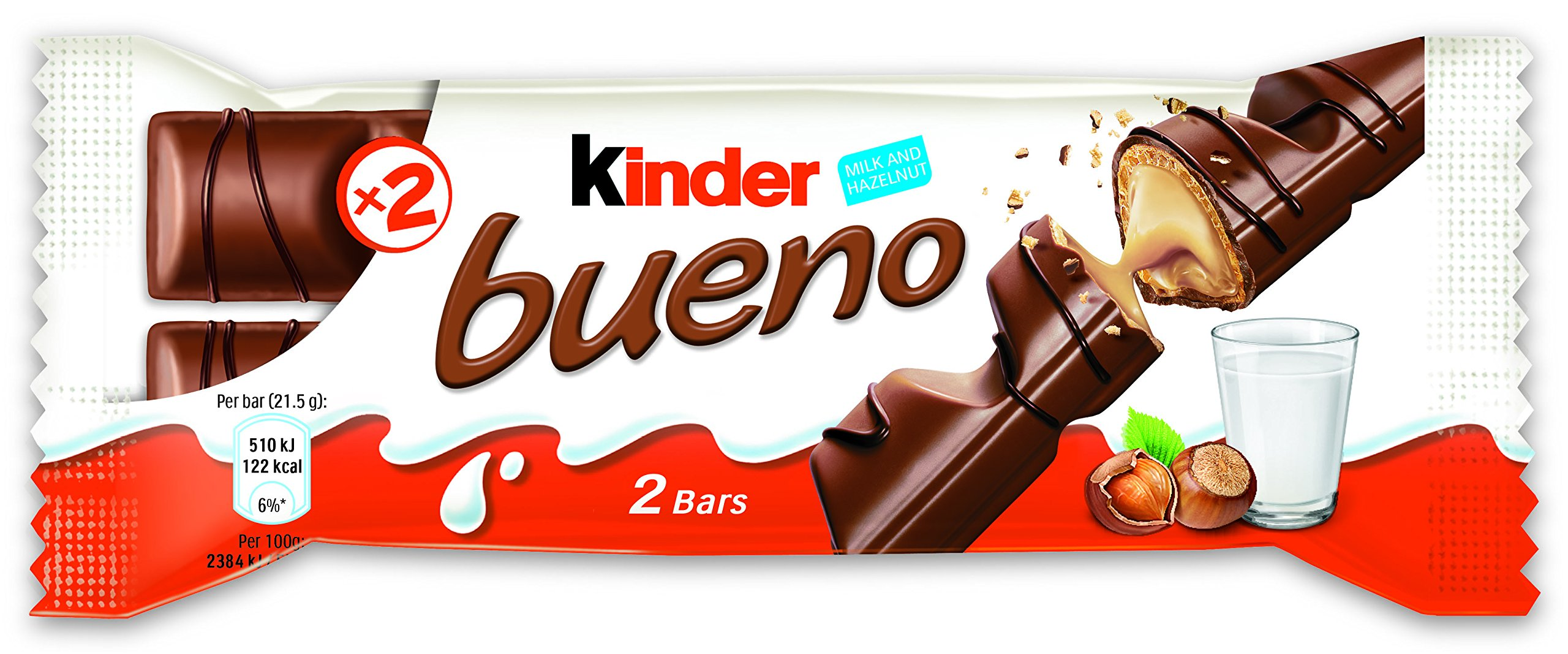 Ferrero Kinder Bueno Wafer Cookies, 1.5 Ounce (43 g) (Pack of 30) by Ferrero (Image #2)