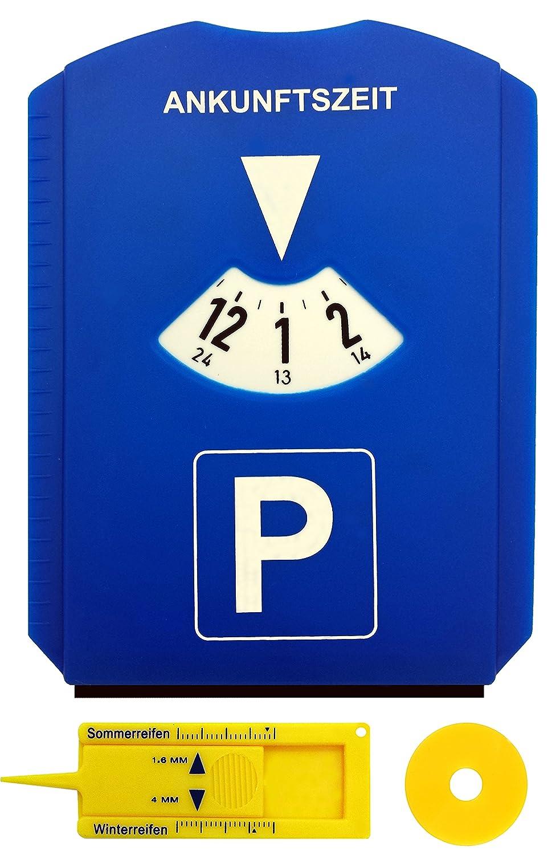 Disco de estacionamiento aparcamiento con chip para carro compra, Medidor de profil de neumá ticos, Raspador hielo Medidor de profil de neumáticos M&H-24 Parkscheibe Auto