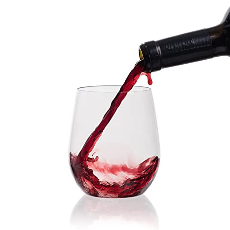 efbf9b17ec Image Unavailable. Image not available for. Color  Berevino Plastic Wine  Glasses ...