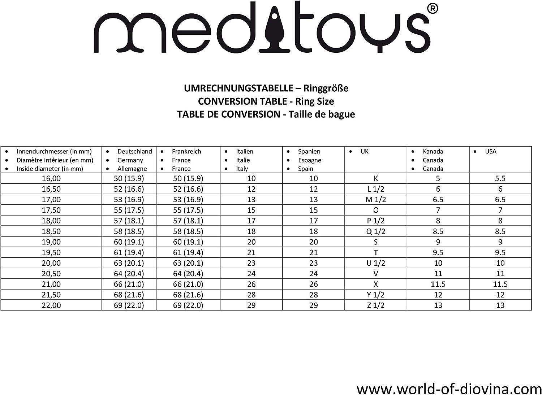 meditoys/® /'/'Bague de O/'/' Cristal original Swarowski /'/'light siam/'/' inoxydable