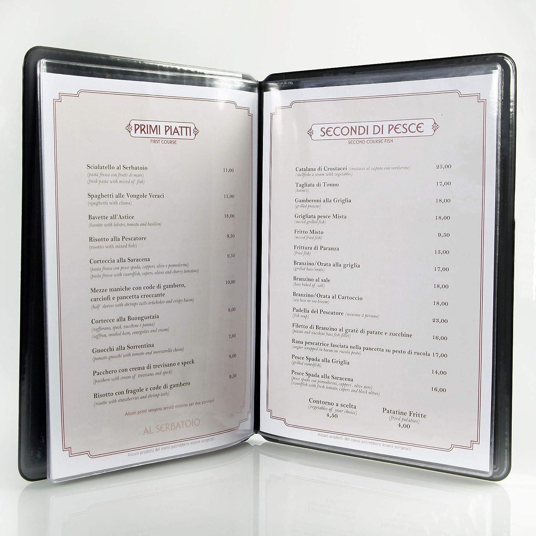 DAG STYLE protège-Menu Tarjeta Des vins Restaurante Italiano ...