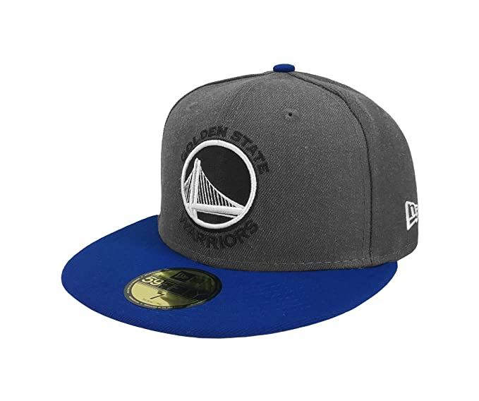 117efed1e84 New Era 59Fifty Hat NBA Golden State Warriors Shader Melt 2 Charcoal Royal Blue  Cap