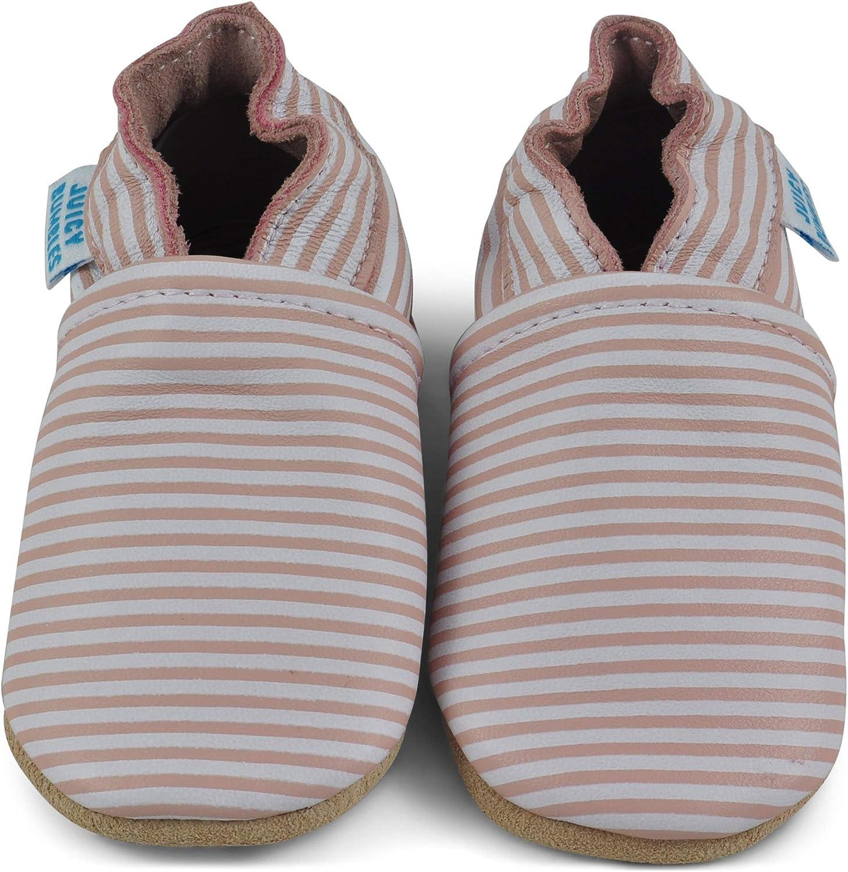 Zapatos de Beb/é Zapatillas de Cuero Ni/ño Ni/ña Patucos de Piel con El/ástico para Beb/é Pantuflas Infantiles 0-6 Meses 6-12 Meses 12-18 Meses 18-24 Meses /… Zapatitos Primeros Pasos