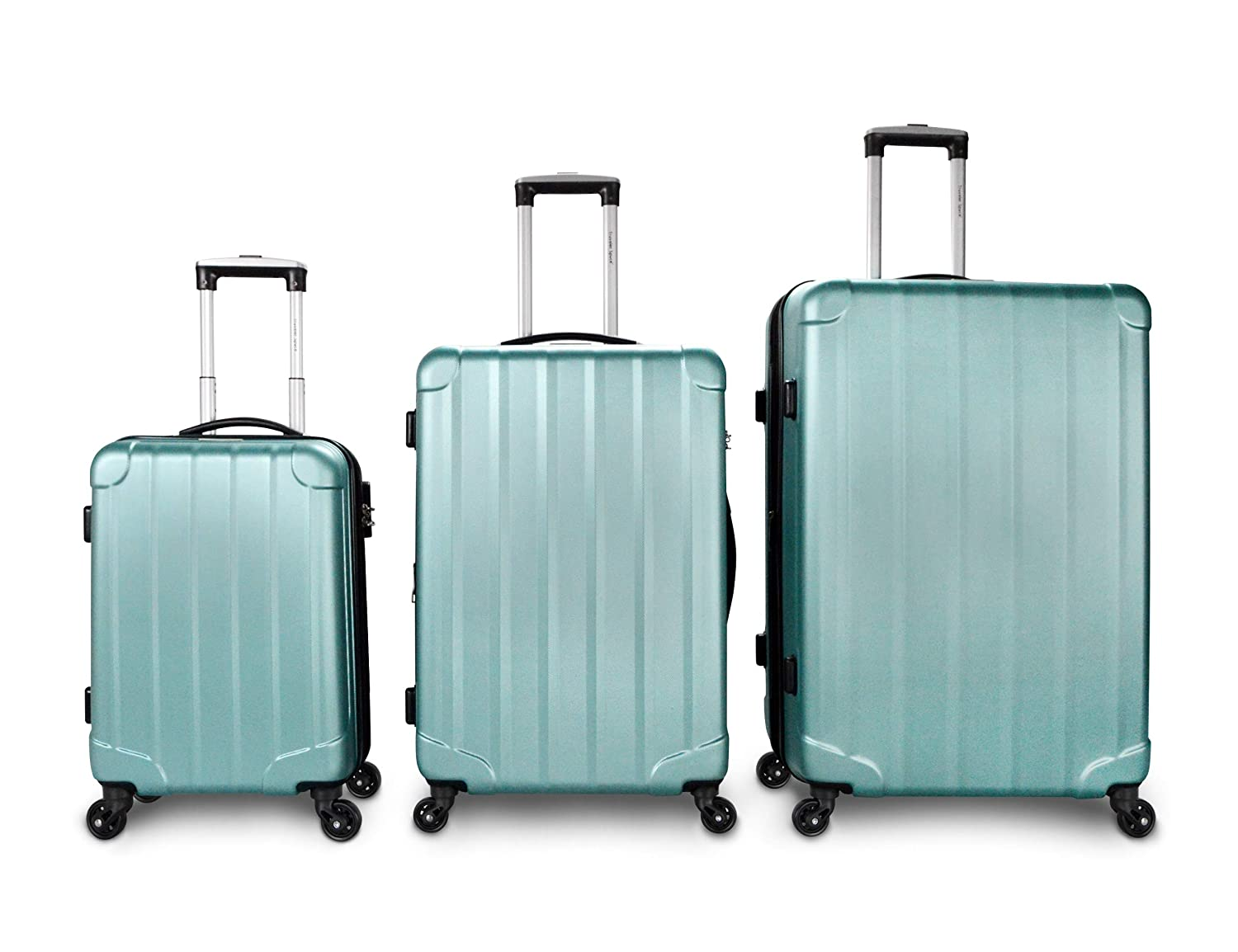 ad5222a9ed54 Traveler Space 20/24/28 3-piece ABS Hardside Expandable 360 Spinner Luggage  Set (Mint)